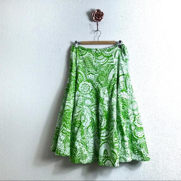 7babeb4ee4 Chico's Dresses & Skirts - Chico's Size 2 Mojito Green White Midi Skirt